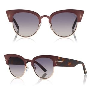 New TOM FORD Alexandra Plum Cat Eye Sunglasses